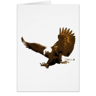 Aterrizaje de Eagle Tarjeta De Felicitación