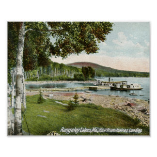 Aterrizaje de Haines, vintage de los lagos Rangele Póster