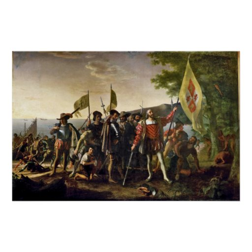 Aterrizaje de Juan Vanderlyn de Columbus Impresiones