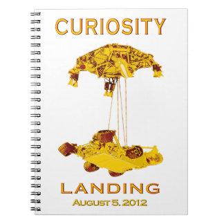 Aterrizaje de la curiosidad - 5 de agosto de 2012 libro de apuntes con espiral