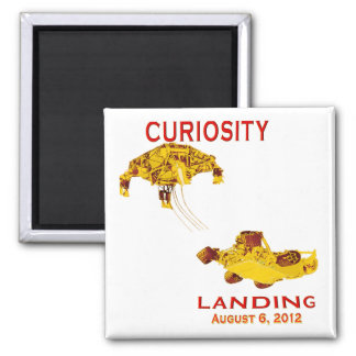 Aterrizaje de la curiosidad:  6 de agosto de 2012 imán para frigorifico