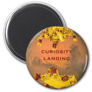 Aterrizaje de la curiosidad imán de frigorifico