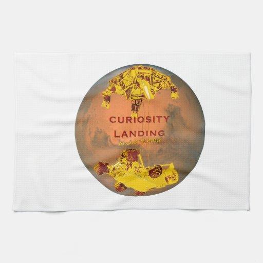 Aterrizaje de la curiosidad toallas de mano