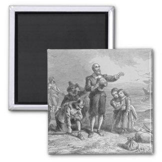 Aterrizaje de los peregrinos, 1620 iman para frigorífico