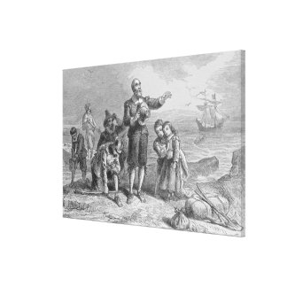 Aterrizaje de los peregrinos, 1620 impresión en lona