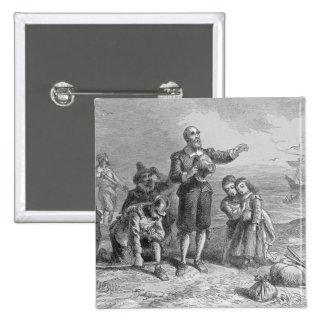 Aterrizaje de los peregrinos, 1620 pin cuadrado