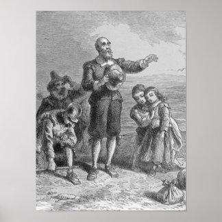 Aterrizaje de los peregrinos, 1620 póster