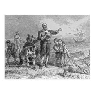 Aterrizaje de los peregrinos, 1620 postal