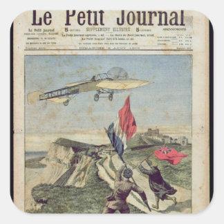 Aterrizaje de Louis Bleriot en Dover Pegatina Cuadrada