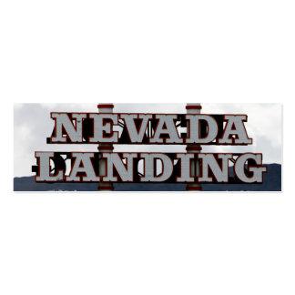 Aterrizaje de Nevada Tarjeta Personal