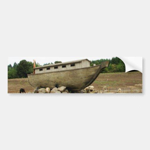 Aterrizaje de Noahs Etiqueta De Parachoque