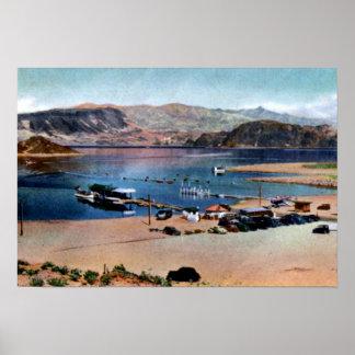 Aterrizaje del barco de Nevada el lago Mead de la  Póster