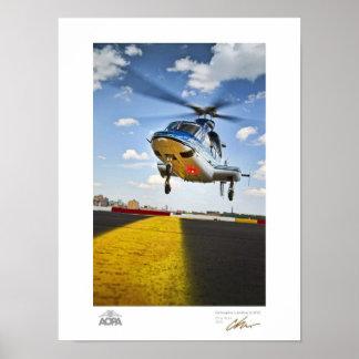 Aterrizaje del helicóptero en galería de NYC Póster