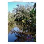 Aterrizaje del río tarjeton