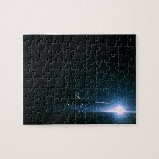 Aterrizaje del transbordador espacial rompecabeza con fotos