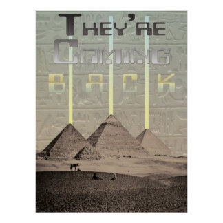 Aterrizaje del UFO de las pirámides se están volvi Impresiones