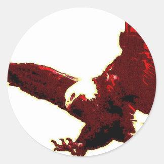Aterrizaje Eagle - Eagle en vuelo Pegatina Redonda