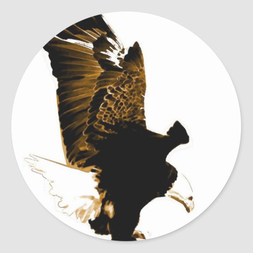 Aterrizaje Eagle Pegatina Redonda