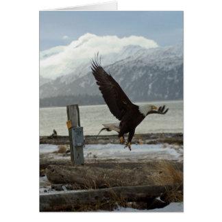 Aterrizaje Eagle Tarjeta De Felicitación