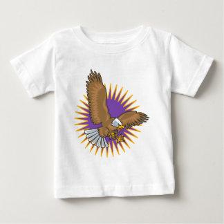 Aterrizaje enojado de Eagle calvo T-shirt