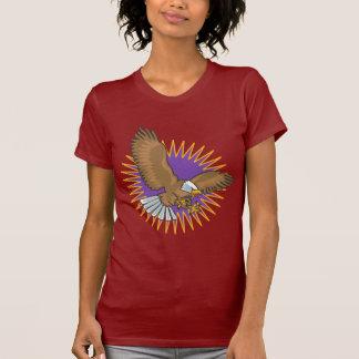 Aterrizaje enojado de Eagle calvo Camiseta