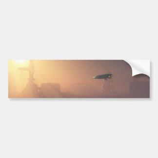 Aterrizaje polvoriento en puesto avanzado del Colo Pegatina De Parachoque