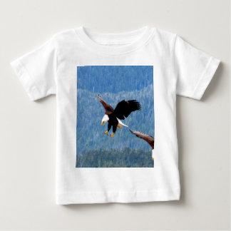 Aterrizaje sólido Eagle calvo Camisetas