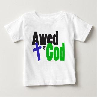 Aterrorizado por dios t shirts
