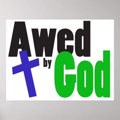 Aterrorizado por dios póster