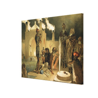 Ateseh-Gah, Indians Devoted to the Cult of Fire, B Stretched Canvas Print