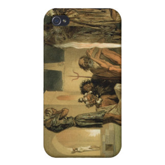 Ateseh-Gah, Indians Devoted to the Cult of Fire, B iPhone 4 Cover