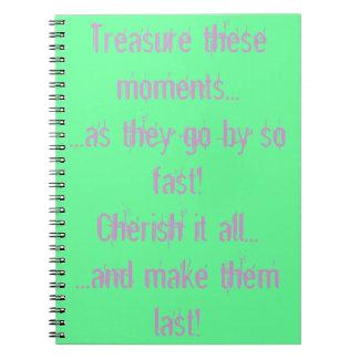Atesore estos momentos spiral notebook