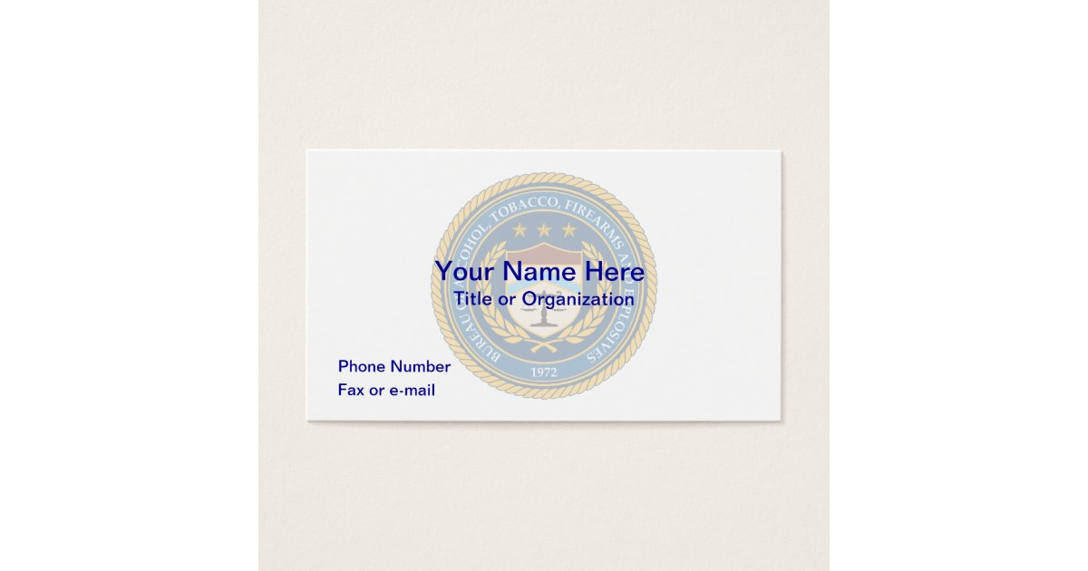 ATF Business Card   Zazzle.com