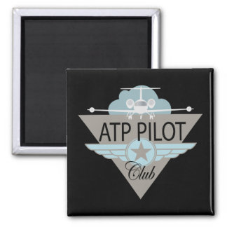 ATF Pilot Club 2 Inch Square Magnet