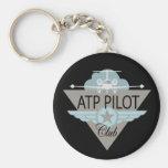 ATF Pilot Club Basic Round Button Keychain
