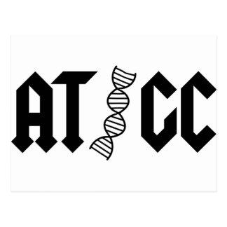 ATGC - Base pairs Postcard