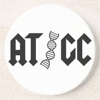 ATGC - Base pairs Sandstone Coaster