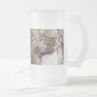 Athabasca Falls Frosted Glass Beer Mug
