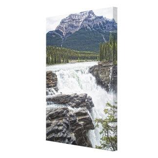 Athabasca Falls Jasper, Alberta Canada Photo Canvas Print