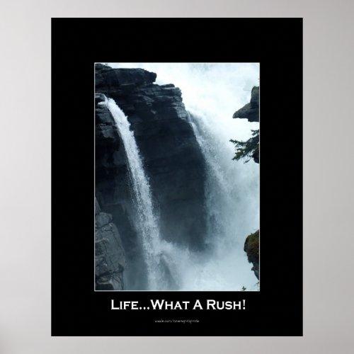 Athabasca Falls Jasper Nat. Park Motivational print