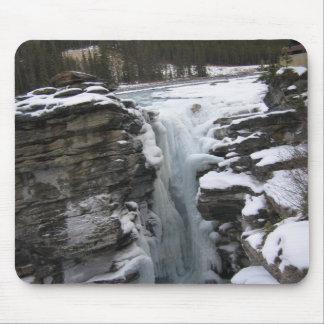 Athabasca Falls Winter Mouse Pad