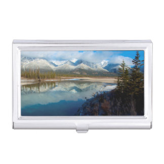 Athabasca River, Jasper National Park, Alberta Case For Business Cards