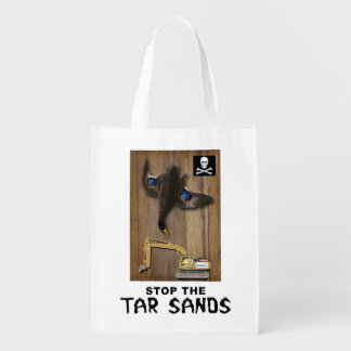 Athabasca Tar Sands Duck Mount Grocery Bags