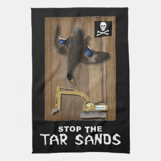 Athabasca Tar Sands Duck Mount Hand Towel
