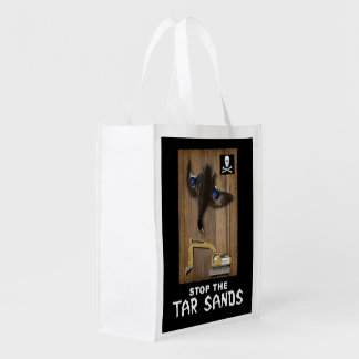 Athabasca Tar Sands Duck Mount Reusable Grocery Bag
