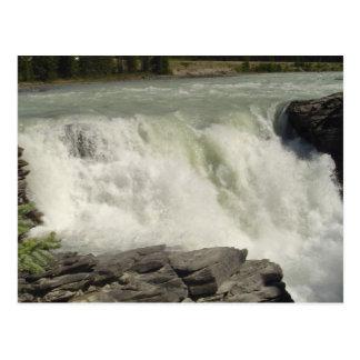 Athabasca Waterfalls in Alberta Postcard