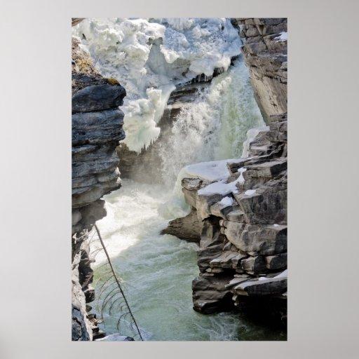 Athabasca Waterfalls Poster