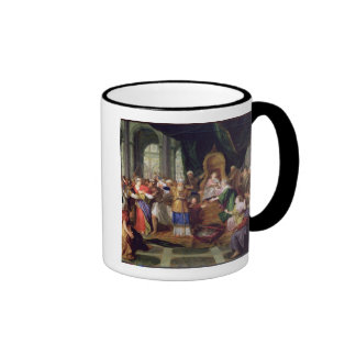 Athaliah Expelled from the Temple, c.1697 (oil on Ringer Mug