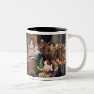 Athaliah Expelled from the Temple, c.1697 (oil on Two-Tone Coffee Mug