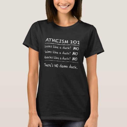 ATHEISM 101 Dark background T_Shirt